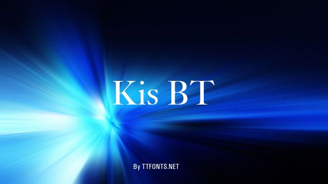 Kis BT example