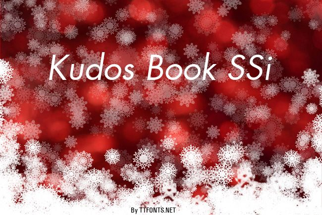 Kudos Book SSi example