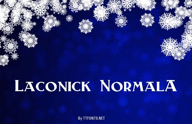 Laconick-NormalA example