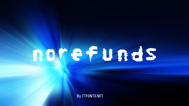 NoRefunds example